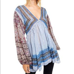 Free People NWT Medium Aliyah Printed Tunic